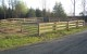 Stock Yard board fence with tube gates
